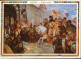 Romania - CP necirc - Pictura de D.Stoica - Intrarea lui Mihai V. in Alba Iulia