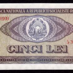 ROMANIA, 5 LEI 1966, UNC_serie A.0109~538720 - Bancnota romaneasca