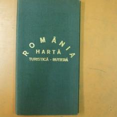 Romania rutiera turistica harta 1979