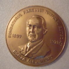 Placheta- Semicentenarul Parcului National Retezat - 1985 - Medalii Romania, An: 1982