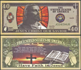 !! SUA = FANTASY NOTE =   ISUS  SALVATORUL  -  2011 - UNC