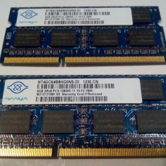 Memorii RAM DDR3 kit 8GB (2modulex4GB) NANYA 2RX8 PC3 12800 la 1600Mhz laptop - Memorie RAM laptop