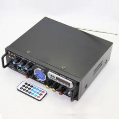 AMPLIFICATOR/STATIE PROFESIONALA KARAOKE, MIXER, MP3 USB, EFECTE VOCE+2 MICROFOANE - Echipament karaoke