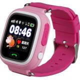 Resigilat! Ceas Telefon Smartwatch cu GPS Tracker pentru copii iUni Kid100, Alarma SOS, BT, LCD 1.22 Inch, Touchscreen, Roz