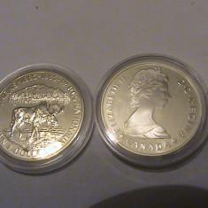 1 dollar Canada UNC 1985 argint, America de Nord