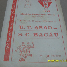 Program UTA - SC Bacau - Program meci