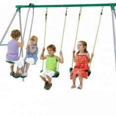 Spatiu de joaca pentru copii cu 2 leagane, Plum - Bicicleta copii