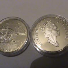 1 dollar Canada UNC 1991 argint, America de Nord