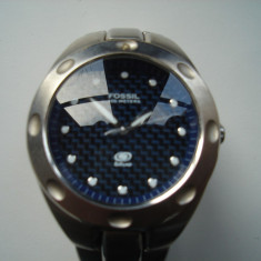 Ceas Fossil Blue AM-3288, electronic - Ceas barbatesc Fossil, Casual, Quartz, Otel, Analog