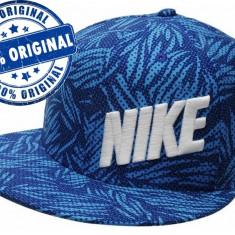 Sapca Nike Trop Storm - sapca originala - sapca flatbrim - Sapca Barbati Nike, Marime: Marime universala, Culoare: Albastru
