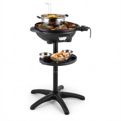 Klarstein Grillpot, 1600 W, 40 cm, gril electric, gril în picioare, grătar de masă, fontă - Gratar Gradina