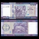 !!! NOU : LIBERIA - 500 DOLARI 2016 - P NEW - UNC / SERIA AA