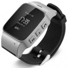 Resigilat! Ceas GPS Copii si Seniori iUni U100, Telefon incorporat, Pedometru, Notificari, Wi-fi, Argintiu - Gadget supraveghere