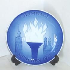 Farfurie de perete portelan, colectie Olimpiade - Munchen 1972 - Bing & Grondahl