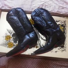 Ciocate Sendra Boots, Unisex, negre, handmade, piele naturala, Marime 40 - Incaltaminte vintage