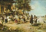 Romania - CP necirculata -Pictura de Th.Aman - Hora de la Aninoasa