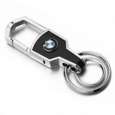 Breloc auto argintiu model auto pentru BMW + ambalaj cadou