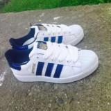 Adidasi Adidas Superstar blue dama barbati noi cutie import UK 40 41 42 - Adidasi barbati, Culoare: Din imagine