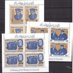 Ras al Khaima 1966 - Churchill, supr. serie blocuri neuzate - Timbre straine