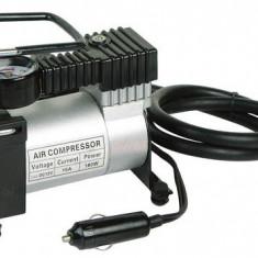 Compresor Auto Metalic 150W Pompa Roti Electrica 12V cu Intrerupator