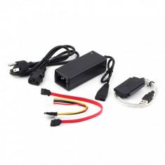 Adaptor SATA IDE USB 2.0 si alimentator creare HDD 2.5 3.5 Extern - Adaptor interfata PC