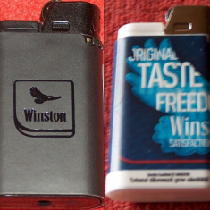 Winston : 2 brichete de colecţie, noi - Bricheta de colectie, Cu gaz