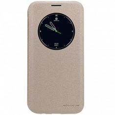 Husa piele Samsung Galaxy S7 edge G935 Nillkin Sparkle S-View aurie Blister Originala - Husa Telefon