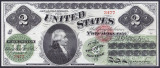 Bancnota Statele Unite ale Americii 2 Dolari 1862 - P129 UNC ( replica )