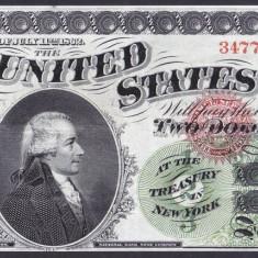Bancnota Statele Unite ale Americii 2 Dolari 1862 - P129 UNC ( replica ) - bancnota america