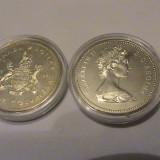 1 dollar Canada UNC 1971 argint, America de Nord