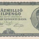UNGARIA 100.000.000 milpengo 1946 VF+++!!! - bancnota europa