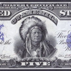 Bancnota Statele Unite ale Americii 5 Dolari 1899 - P340 ( replica ) - bancnota america