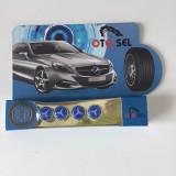 Capacele ventil MERCEDES 4 bucati albastru - Ornament Auto