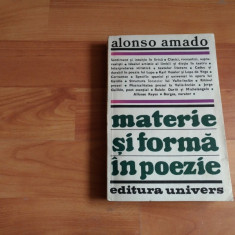 MATERIE SI FORMA IN POEZIE--ALONSO AMADO