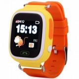 Resigilat! Ceas Telefon Smartwatch cu GPS Tracker pentru copii iUni Kid100, Alarma SOS, LCD 1.22 Inch, Touchscreen, Portocaliu