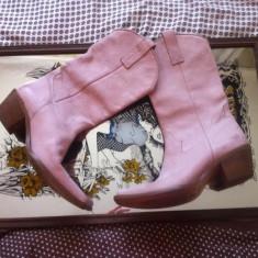 Ciocate Roz somon, piele naturala moale, Marimea 38, extrem de confortabile - Incaltaminte vintage
