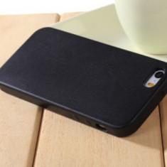 Husa iPhone 5 5S SE Neagra - Husa Telefon Apple, Negru, Piele Ecologica, Fara snur, Carcasa