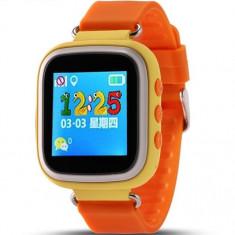 Resigilat! Ceas cu GPS Tracker si Telefon pentru copii iUni Kid90, Alarma SOS, BT, LCD 1.44 Inch, Portocaliu
