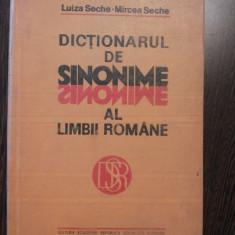 DICTIONAR DE SINONIME AL LIMBII ROMANE - Luiza Seche - Editura Academiei, 1982 - Dictionar sinonime