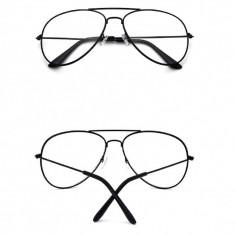 Ochelari fantezie lentila transparenta unisex + ambalaj  cadou