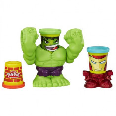 Plastilina Play-Doh Hulk - Jocuri Logica si inteligenta Hasbro