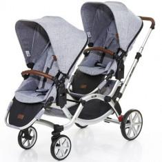 Carucior Gemeni Zoom Graphite Grey - Carucior copii 2 in 1 ABC Design