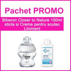 Biberon Closer to Nature 150 ml + Crema pentru Scutec Liniment 110 ml PROMO Tommee Tippee
