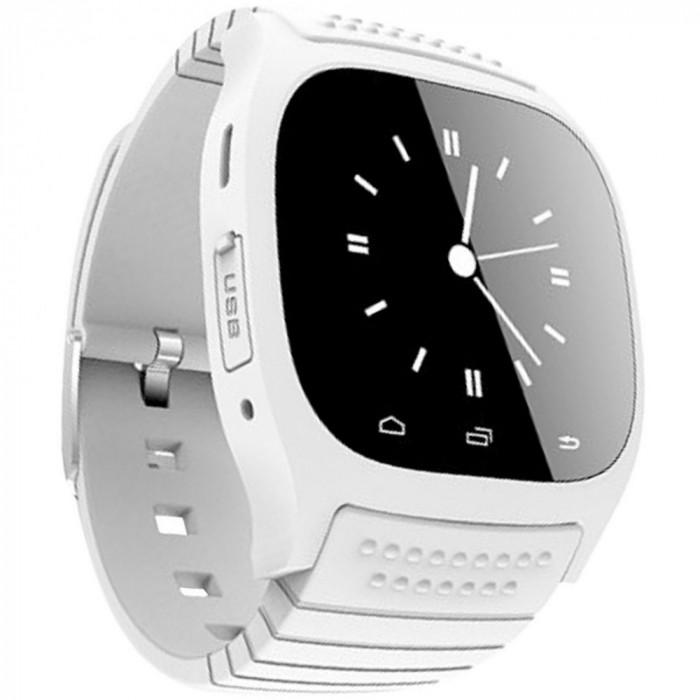 Resigilat! Smartwatch iUni U26 Bluetooth, 1.5 inch, Pedometru, Notificari, Alb foto mare