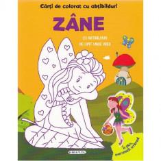 Carte de Colorat cu Abtibilduri - Zane