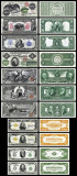 Bancnota Statele Unite ale Americii - set 11 reproduceri bancnote foarte rare