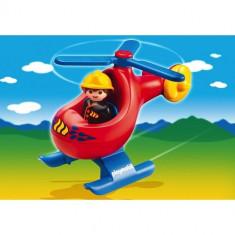 1.2.3 - Elicopterul Pompierilor - Figurina Povesti Playmobil