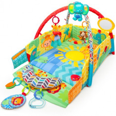Salteluta de Joaca 5in1 Sunny Safari Baby s Play Place - Jucarie interactiva Bright Starts