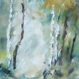 Tablou ulei (15/25cm)- VARĂ - Pictor roman, Flori, Impresionism