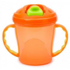 Canuta Free-Flow Cup 4 luni+ Portocaliu - Vesela bebelusi